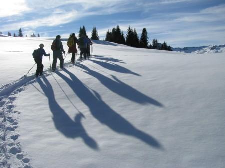 An Weihnachten durch eine Märchenwelt - mit Schneeschuhen