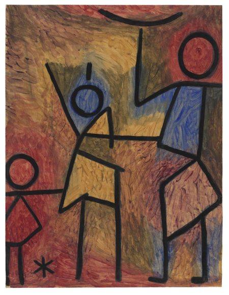 Paul Klee - Ohne Titel, um 1940 - Kleisterfarbe und Kreide auf Papier auf Karton - 65,1 x 49,8 cm - Zentrum Paul Klee, Bern