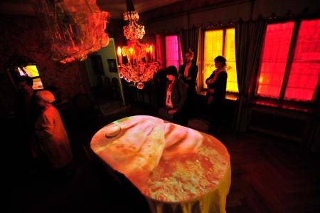 Augendeckel Pipilotti Rist, Videoinstallation im Esszimmer der Villa Langmatt, Courtesy die Künstlerin und Hau