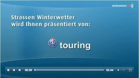 Ab sofort präsentiert MeteoNews.tv mit seinem Partner Touring das Touring-Strassenwetter!