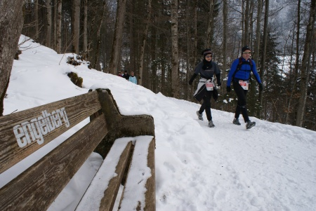 Ex-Mister-Schweiz-Trio am Swiss Snow Walk & Run