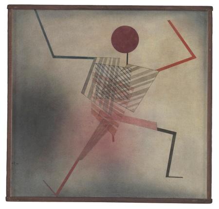 Paul Klee - Springer, 1930, 183 Aquarell und Feder auf Baumwolle auf Holz; originale Rahmenleisten 51 x 53 cm Zentrum Paul Klee, Bern, Schenkung Livia Klee
