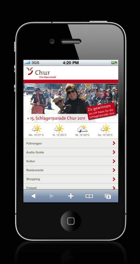 Chur bietet neu digitalen City Guide