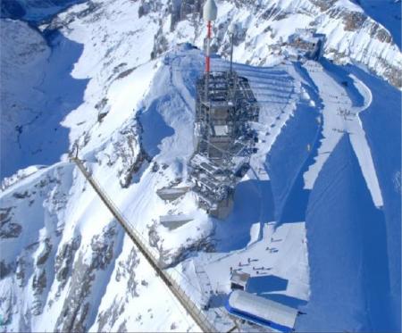 Visualisierung der höchstgelegenen Hängeseilbrücke Europas auf dem Titlis
