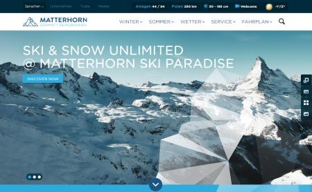 Zermatt Bergbahnen AG mit neuem Webauftritt