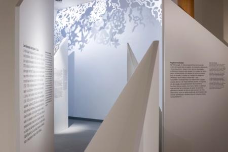 """Eingang zur prämierten Ausstellung """"Scherenschnitte"""", welche noch bis am 03. März 2014 im Forum Schweizer Geschichte in Schwyz zu sehen ist."""