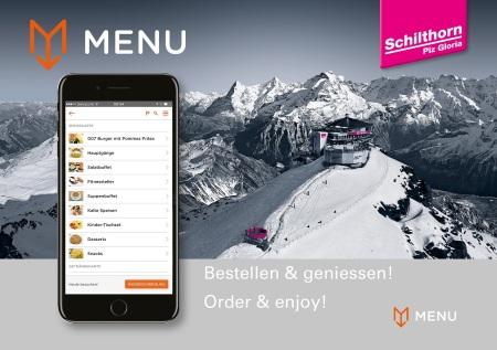 Schilthorn-Gastronomie mit MENU App noch gästefreundlicher