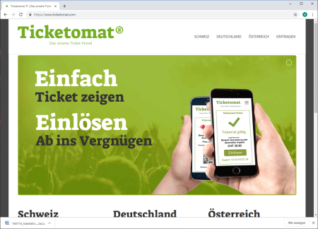 Ticketomat® - Das smarte Ticket Portal startet in der Schweiz, Deutschland und Österreich