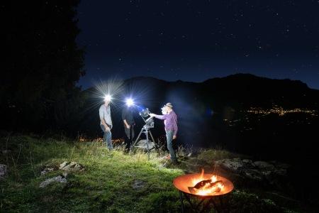Die Sardona-Arena bei Nacht: Ein Hotel mit Sternendach